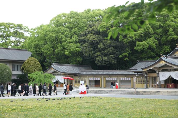 【神前式】福岡:護国神社にて