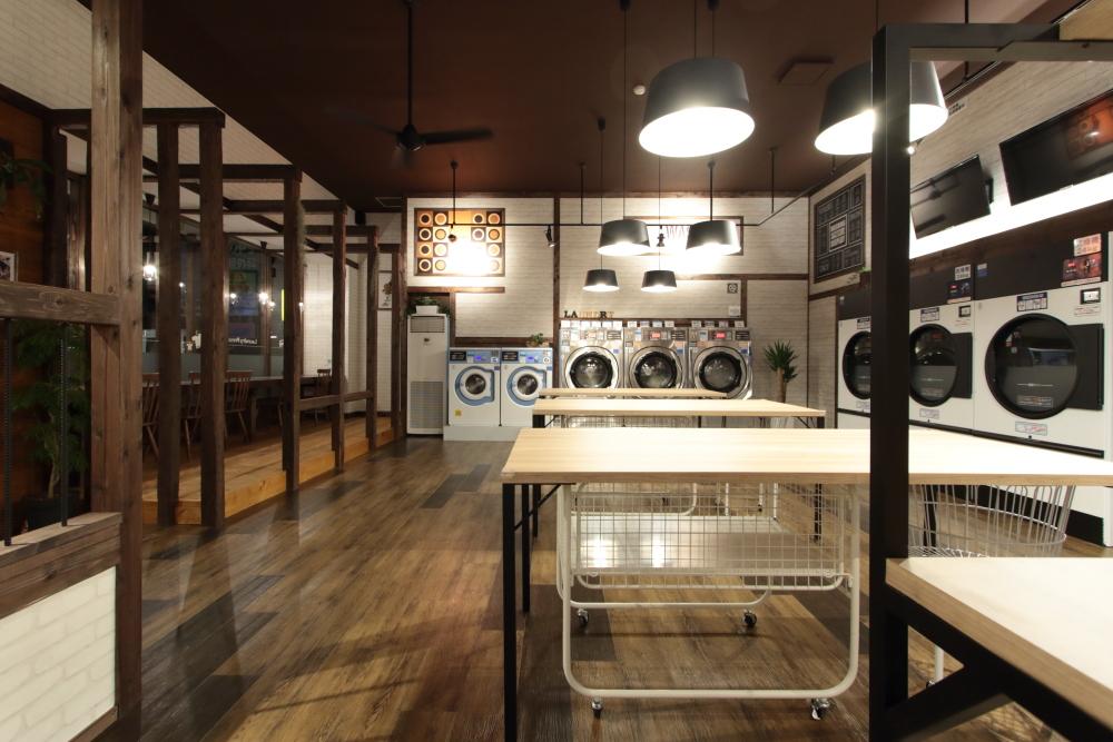【店舗撮影】福岡・春日市のコインランドリー Laundry Press 様